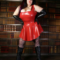 Plus size Latex Dress .. made to measure .. Ruby Dress .. Phoenixx Designs