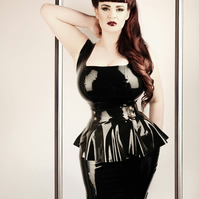 Alexandra Dress Plus Size Latex Phoenixx Designs Black Wiggle Dress ..