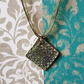 Porcelain Kiln-Fired Ceramic Square Pendant .. No.126 ..