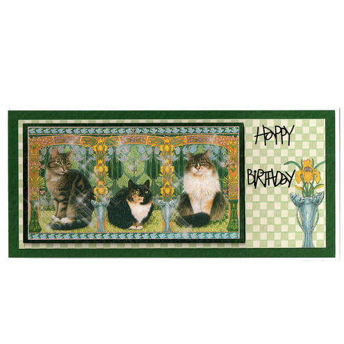 Cats on a Checkered Background (HB165)