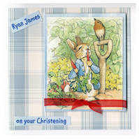 Peter Rabbit Christening Card (CHR168)