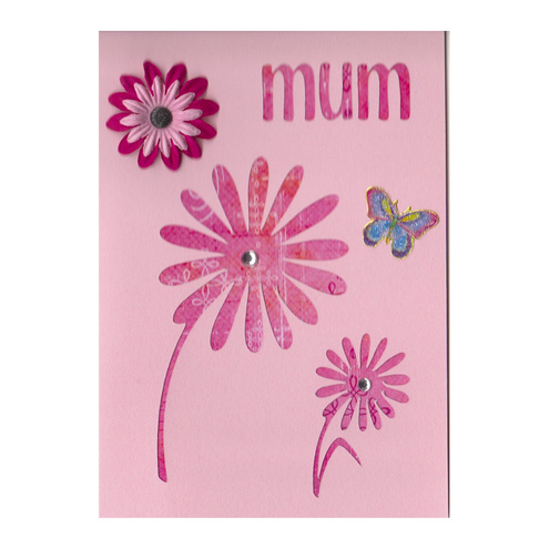 Say it with Flowers and Butterflies Mother's Day Card