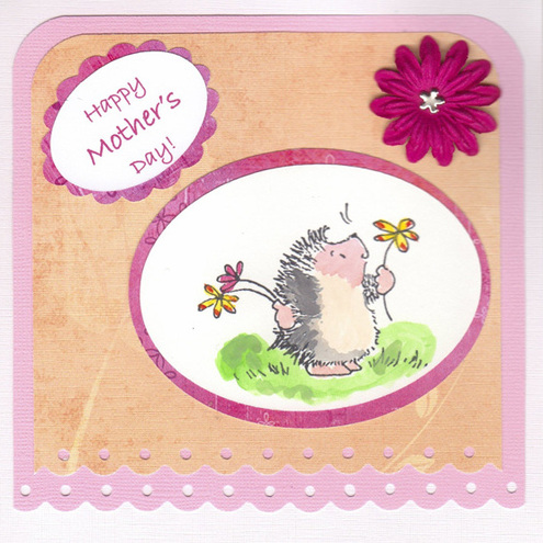 Peachy Mother's Day Hedgehog