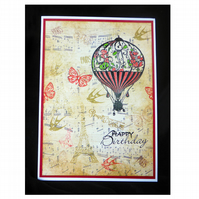 Vintage Balloon with Eiffel Tower (HB360)