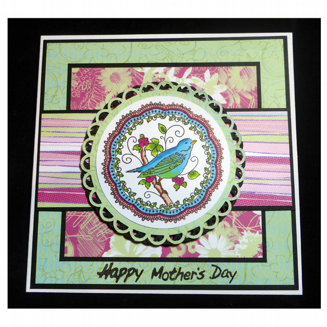 Vintage Lace Bluebird Mother's Day Card (MD369)