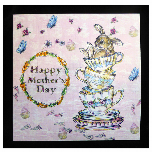 Bunnie's Tea Party Mother's Day Card (MD366)