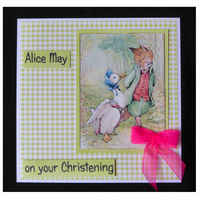Jemima and Mr Fox Christening Card (CHR402)
