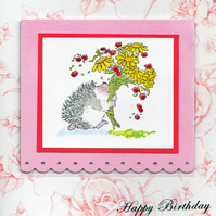 Hedgehog Bouquet Happy Birthday (HB198)