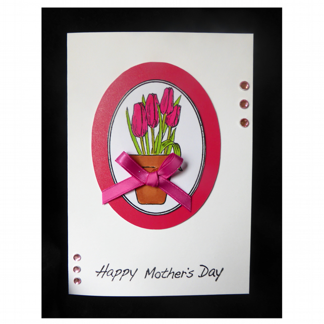 Pot of Tulips for Mother's Day (MD448)