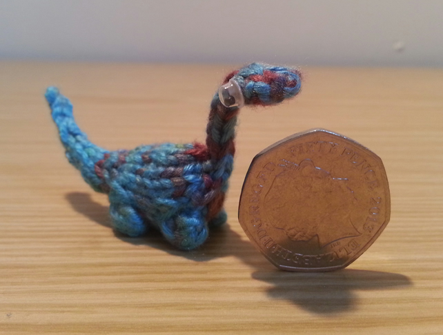 Mini Dinosaur Knitting Pattern : Rapberry - Hand Knitted Miniature Dinosaur - R... - Folksy