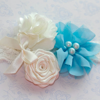 FLO: Baby Headband Bridesmaid Headband Flower Girl Headband.