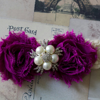 LAURA: Plum Wedding Garter.