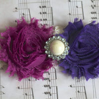 FIORELLA: Plum & Dark Purple Wedding Garter