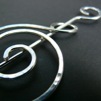 Sterling Silver Celtic Coil Shawl Pin