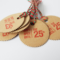 Bulk Special Offer, 2 Packs Of 6 Tags, Do Not Open Until Xmas Gift Tags