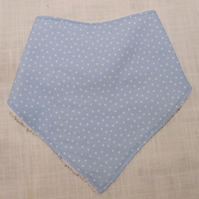 Baby Blue with little white stars bandanna dribble bib