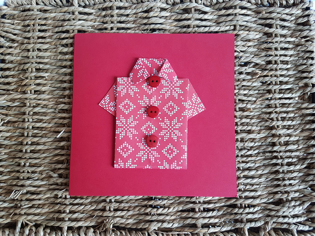 Christmas Origami Shirt Card