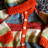 Hipster Baby Cardigan and Beanie Hat