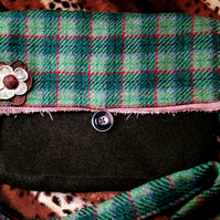 Tartan and Wool Handmade Bag