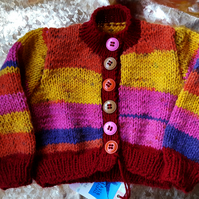 Sunny Striped Baby Cardigan