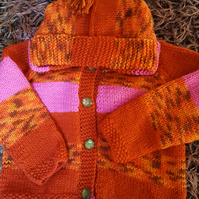 Warm Orange Baby Hoodie