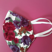 Vintage-style Rose Handmade Cotton Facemask
