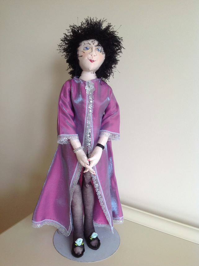 CARMEN - a hand-made unique cloth doll