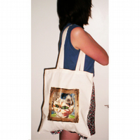 Cat in a Frame Long Handled Tote Bag
