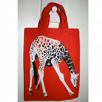 Red Giraffe Goody bag / Mini Tote