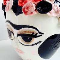 CUSTOM ORDER FRIDA KAHLO CERAMIC VASE