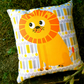 MUSTARD THE LION CUSHION