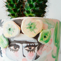 FRIDA KAHLO POT OR PLANTER
