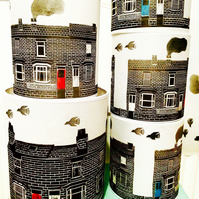 Terraced House Lampshade (20cm diameter)