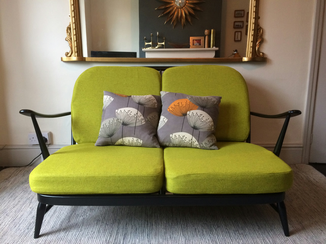 Two seater Ercol Windsor sofa - newly upholstered