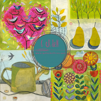 Garden Art Cards - set of 4