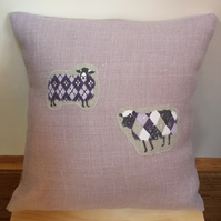 Decorative Cushion - Appliqué Sheep