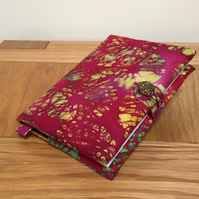 Fabric Covered Notebook - Batik Print