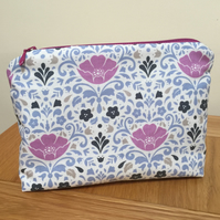 Cosmetic Bag - Floral Damask Print