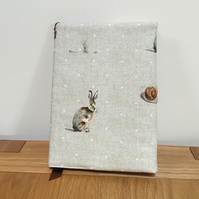 Fabric Covered Notebook - Wild Hares