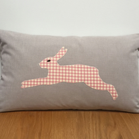 Decorative Cushion - Appliqué Running Hare