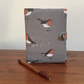 Fabric covered Notebook - Robins