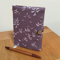 Fabric Covered Notebook- Birds In Flight