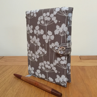 Fabric Covered Notebook - Cow Parsley and Bees