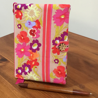 Fabric Covered Notebook- Vibrant Pansies