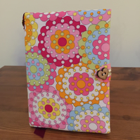 Fabric Covered Notebook- Funky Flowers