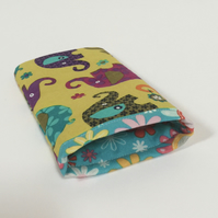 Glasses Case - Funky Elephants and Flowers
