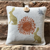 Hanging Lavender Sachet - Rabbits and Bees