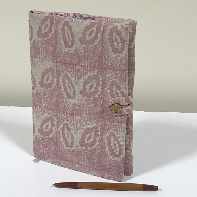 Fabric Covered Notebook- Hand Printed