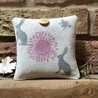 Hanging Lavender Sachet-Rabbits and Bees