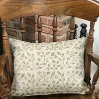 Decorative Hand Printed Cushion- Trailing Jasmine